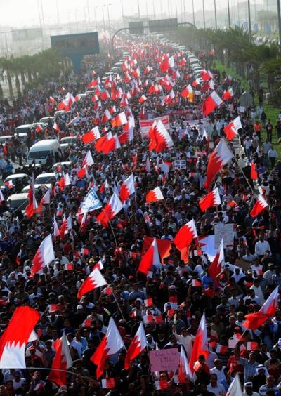 Révolution arabe, Barhrein.