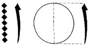 Alef et cercle étalon Alef tracé d'après l'échelle des sept points en losange