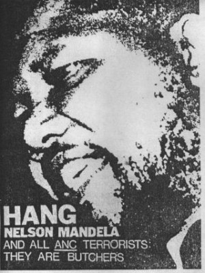 Pendez Nelson Mandela et tous les terroristes de l'ANC