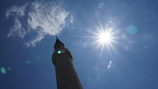 Minaret of the Gazi Husrev-beg Mosque. Sarajevo.