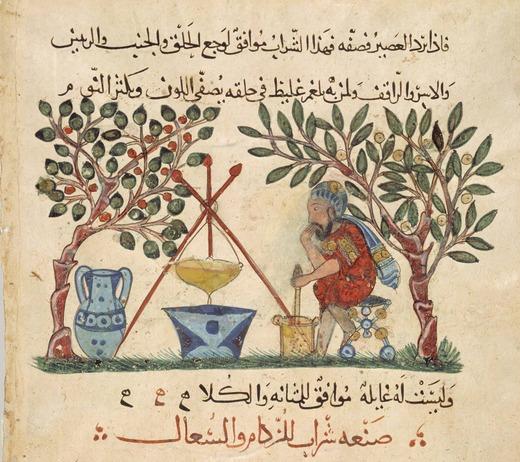 13ème siècle, traduction arabe du Materia Medica, inconnu, École de Bagdad (Irak).