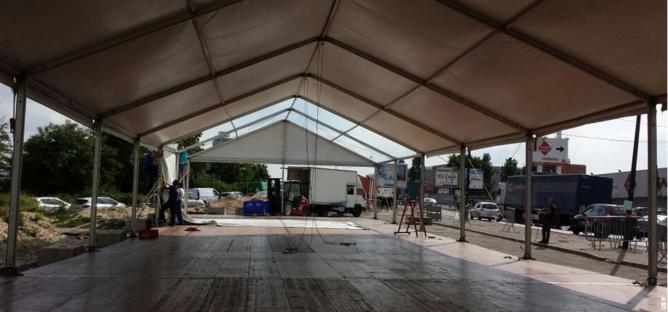 Chapiteau tente pour les Tables du Ramadan. Crédit Photo Secours Islamique