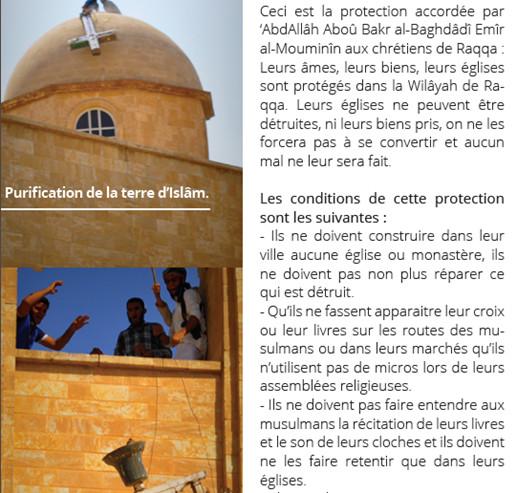 Capture d'écran du magazine Dar al-islam, n°5, juillet 2015, p. 20
