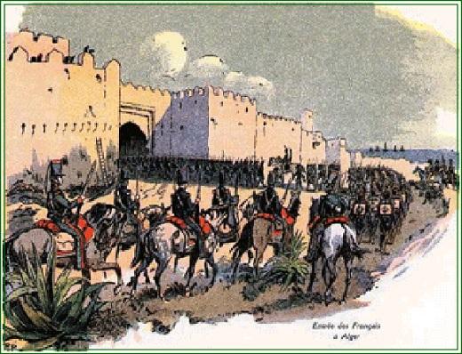 Entrée des troupes françaises dans Alger par la porte