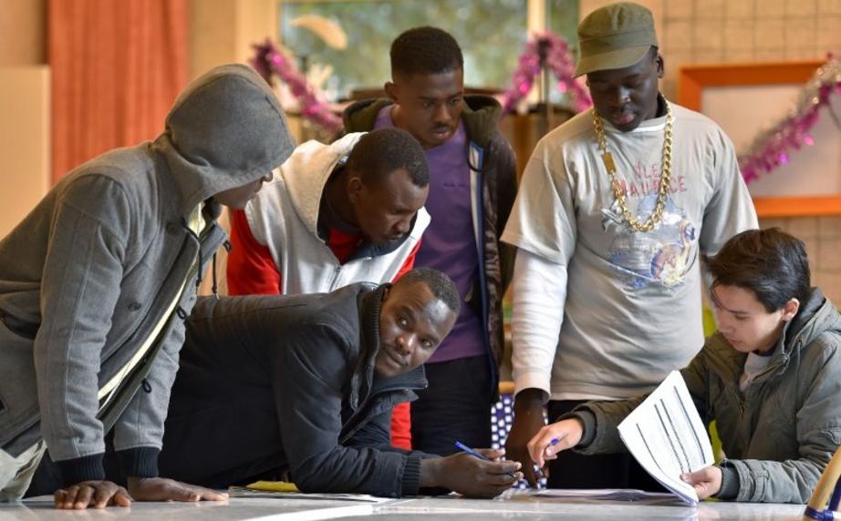 Au Centre d'accueil et d'orientation pour migrants de Saint-Brévin les Pins, en janvier 2017. Loïc Venance/AFP
