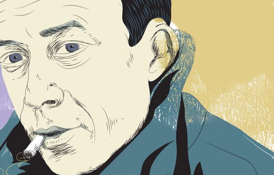 Illustration: Tiffet. Albert Camus est né en Algérie de descendants européens.