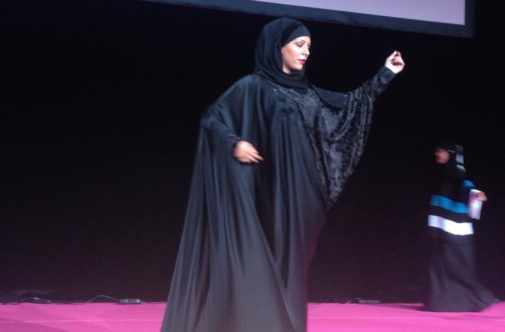 Un défilé de mode, dans un salon de la femme musulmane ayant eu lieu en France. C.M.