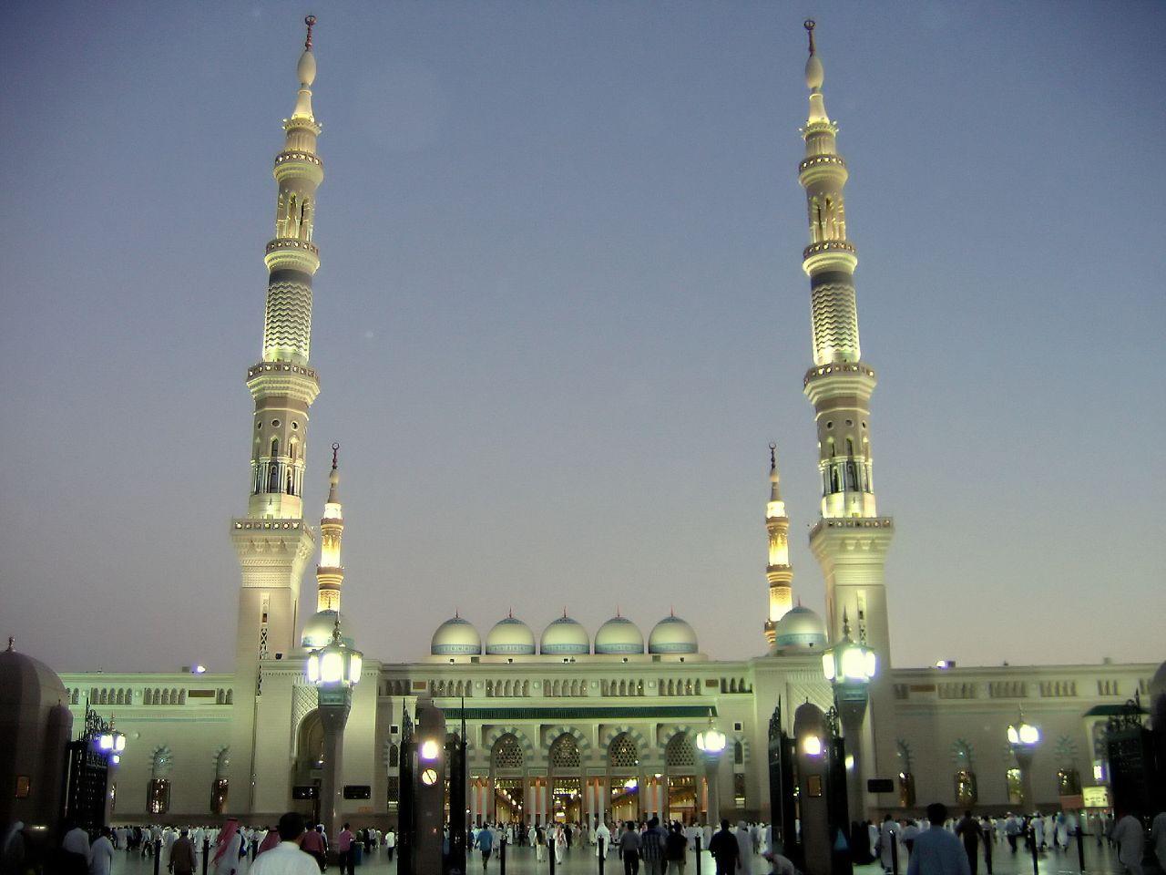 Mosquée al Nabawi à Médine.