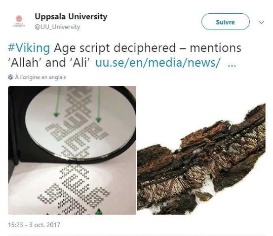 Des symboles arabes mis au jour sur des vêtements funéraires vikings (National Geographic, The Guardian)