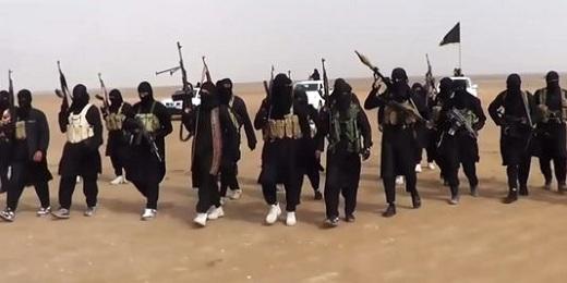 Des membres de l'EIIL dans la province de Ninive, le 11 juin 2014. | AFP