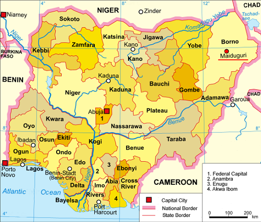 e fief de Boko Haram (Wikimedia Commons/CC)