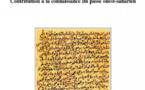 Récits d'origine. Contributions à la connaissance du passé ouest-saharien