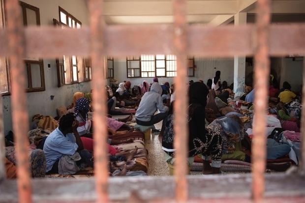 Centre de détention pour migrants à Zawiya en Libye (Alessio Romenzi/MEE)