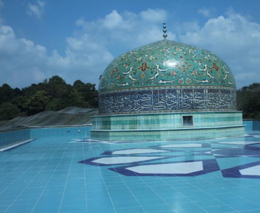 Terrasse du musée d'art islamique de Kuala Lampur. Copyright Amine Djebbar.