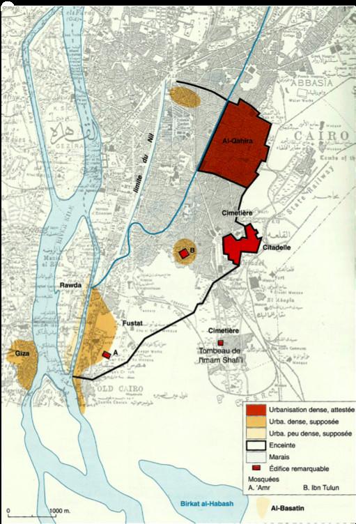 Planche 01 (37) Carte du Caire au début de l'époque mamelouke (XIII ème siècle)