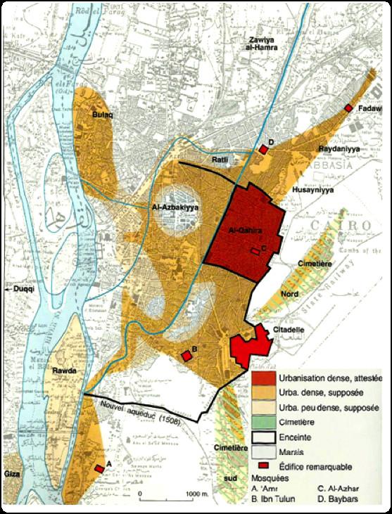 Planche 03 Carte du Caire à la fin de la période du sultanat mamelouk (début du XVIe) (74)