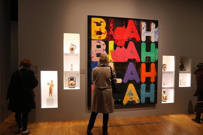 Vue de l'exposition «Après Babel, traduire», qui a eu lieu de décembre 2016 à mars 2017 au Mucem, à Marseille, et dont Barbara Cassin était commissaire. Copyright : Agnès Mellon/MUCEM