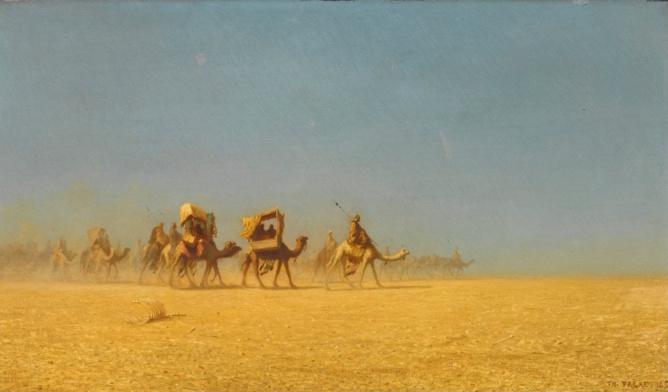 Caravane de chameaux. Charles Theodore (1855)
