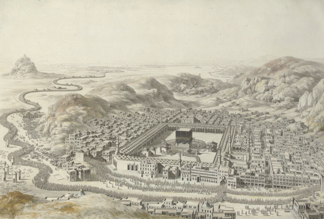 La Mecque. Illustration de Louis-Nicolas de Lespinasse (1787)