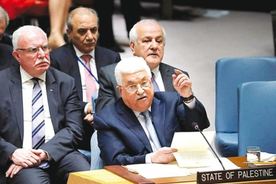 ahmoud Abbas s'exprimant devant le Conseil des Nations unies, New York / Photo : D. R.