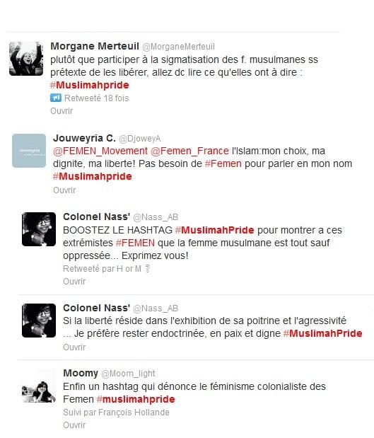 Captute d'écran de quelques messages sur twitter