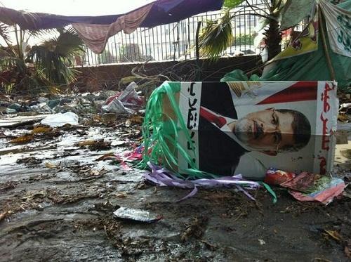sur la place Nahda au Caire