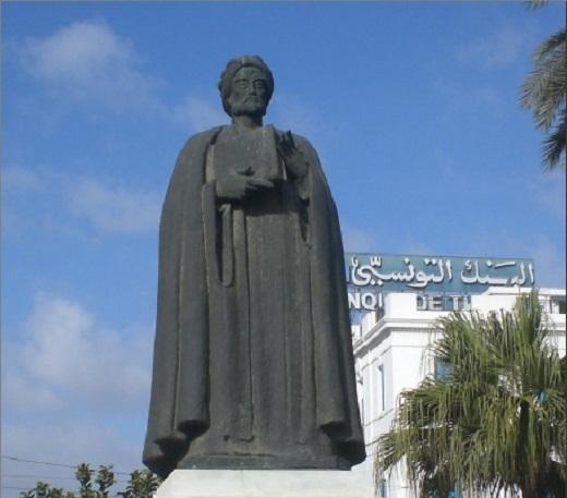Statue d'Ibn Khaldoun à Tunis