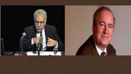 Sur la photo: Mohammad-Ali Amir-Moezzi (à gauche) et Christian Jambet (à droite)