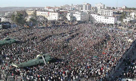 Les funérailles d'Arafat.