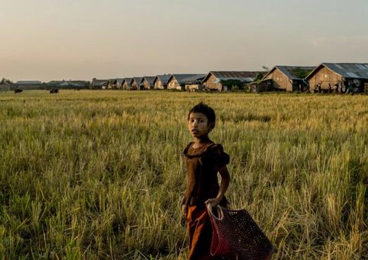 Un camp pour les Rohyngya, une minorité ethnique, à la périphérie de Sittwe dans l'Etat de Rakhine. Crédit photo : Tomas Munita pour Le New York Times