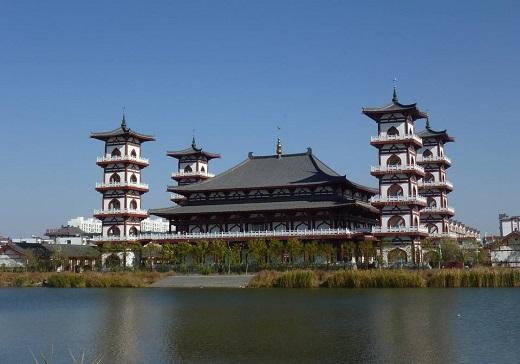 La grande mosquée de Lingwu (Ningxia). Crédit photo : François Dubé