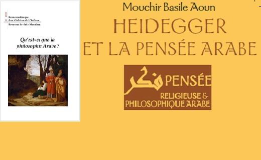 Heidegger et la pensée arabe de Mouchir Basile Aoun