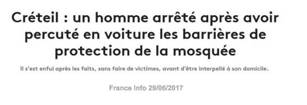 Attaque contre la mosquée de Créteil : Traitement minimal (Arrêt sur images.net)