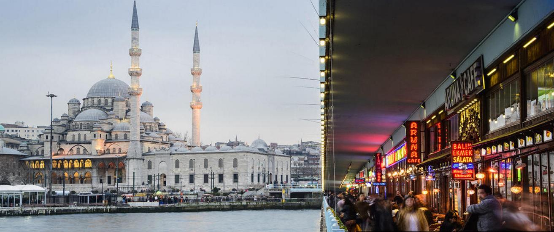 Vue de la mosquée Neuve (Yeni Cami) depuis le pont de Galata, à Istanbul, en Turquie. Copyright Claude CASSARO/ SIEPHOTO/MASTERFILE