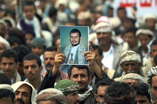 Janvier 2017, manifestation de Houtis à Sanaa / Source : albawabanews.net