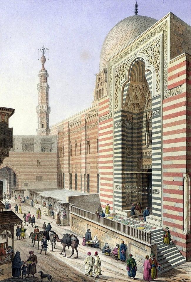 Complexe du sultan Muayyad. Pascal Coste - XIXe