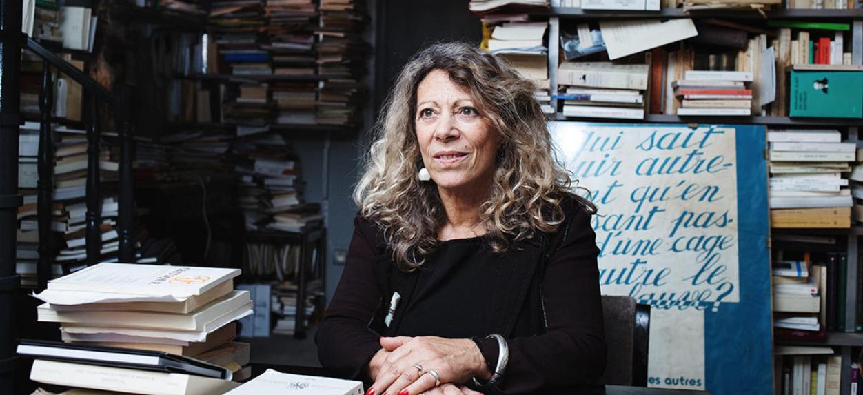 Barbara Cassin, à son domicile parisien, en janvier 2017. Copyright Frédérique Plas/CNRS PHOTOTHEQUE