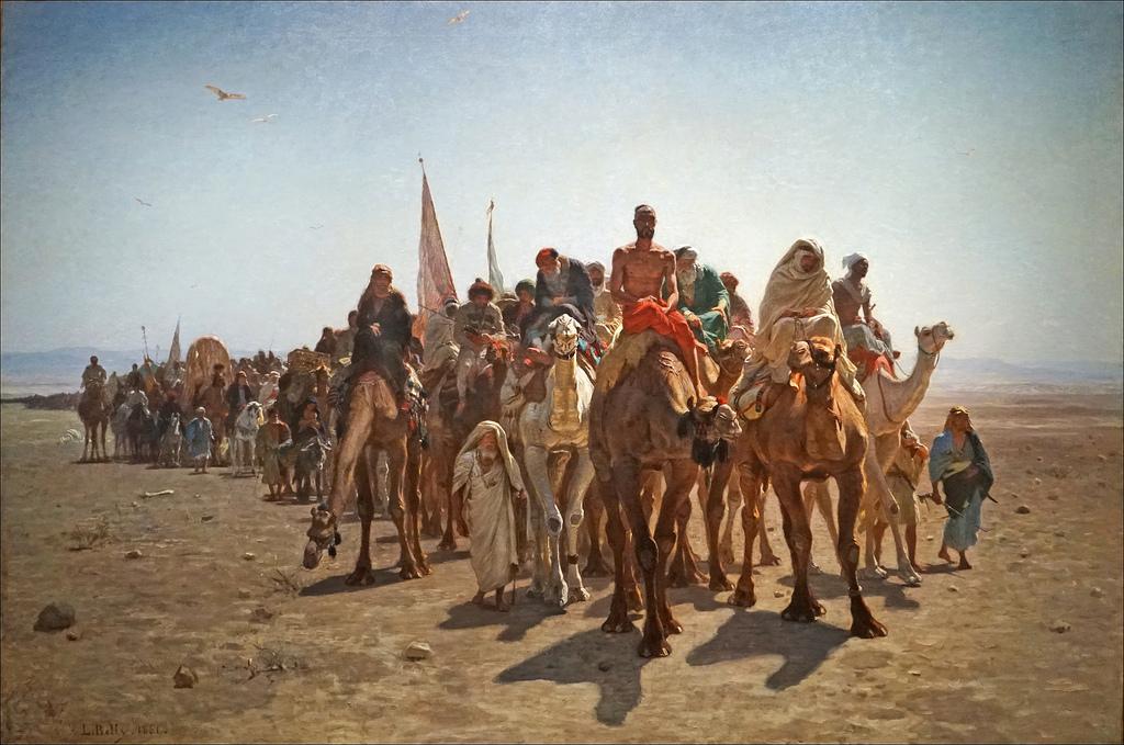 Pèlerins allant à la Mecque de Léon Belly (Musée d'Orsay, Paris)