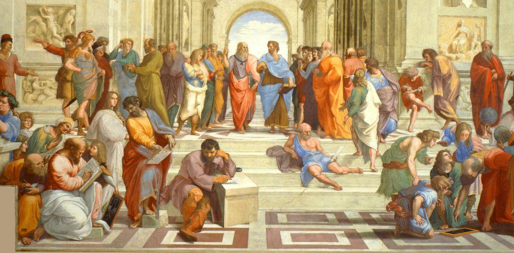 L'école d'Athènes / Raffaello Sanzio (domaine public)