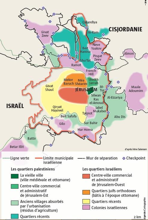 Carte de jerusalem. Mensuel l'histoire.