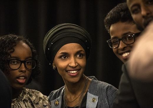 Ilhan Omar, le 6 novembre, à Minneapolis (Minnesota).  / Stephen Maturen/AFP