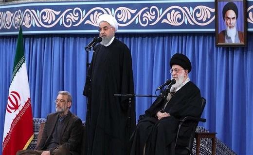 Le président de la Cour suprême, Hassan Rouhani, prend la parole et prononce un discours lors d'une réunion entre l'ayatollah Seyyed Ali Khamenei, dirigeant de la révolution islamique, et les participants à la conférence internationale sur l'unité islamique à Téhéran, le 25 novembre 2018. (Photo IRNA)