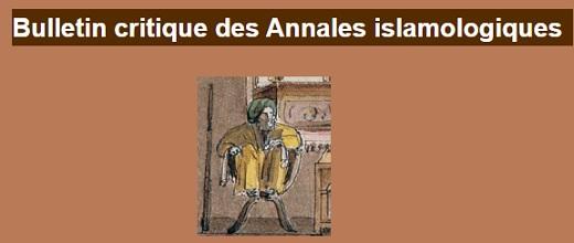 Parution : « Bulletin critique des Annales islamologiques » 35 (2021)