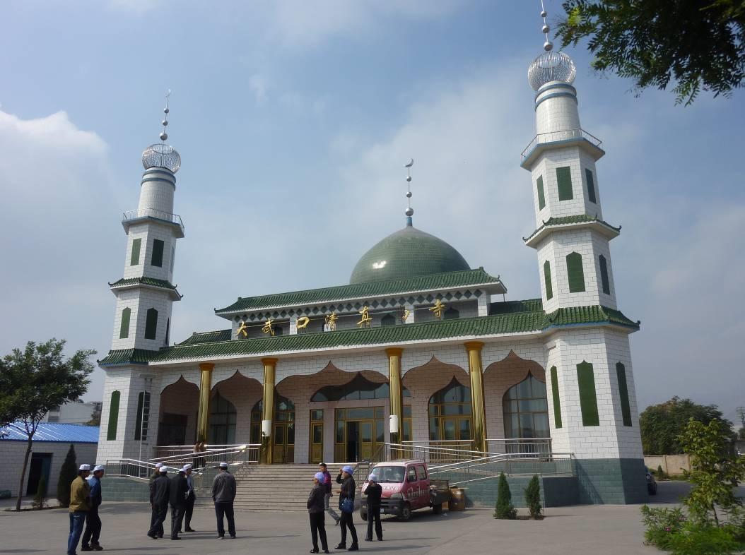La mosquée de Dawukou (Ningxia). Crédit photo : François Dubé