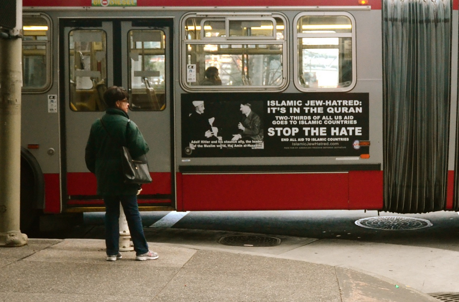 Publicité de l'AFDI sur un bus à San Francisco. (Photo : D.R.)