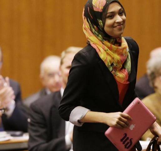 Sadia Saifuddin est la première femme musulmane à représenter les étudiants de l'université de Berkeley, aux Etats-Unis.