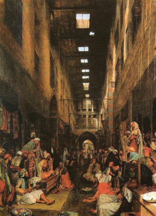 Gravure représentant des Mamelouks, troupes militaires qui ont statué en Egypte de 1250 à 1517 et en Syrie (comprenant aussi la Palestine) de 1260 à 1516.