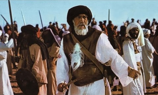"Anthony Quinn dans ""Le Message"" de Moustapha Akkad (1976)"