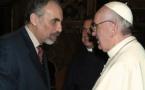 Rencontre avec Mustapha Cherif à la suite de son entretevue avec le Pape François